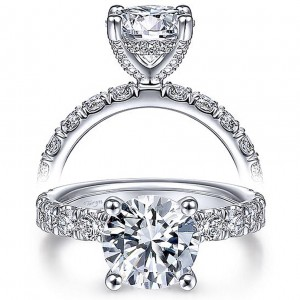 Taryn 14k White Gold Round Diamond Engagement Ring TE15121R8W44JJ