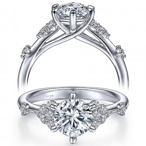 Taryn 14k White Gold Round Diamond Engagement Ring TE15193R4W44JJ
