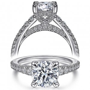 Taryn 14k White Gold Round Diamond Engagement Ring TE15249R6W44JJ