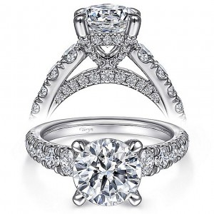 Taryn 14k White Gold Round Diamond Engagement Ring TE15250R8W44JJ