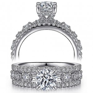 Taryn 14k White Gold Round Diamond Engagement Ring TE15544R4W44JJ
