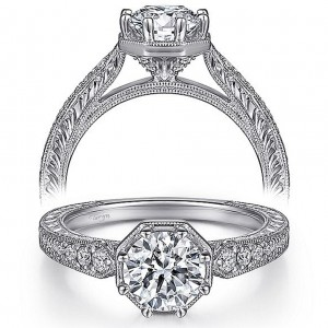 Taryn 14k White Gold Round Diamond Engagement Ring TE15587R4W44JJ