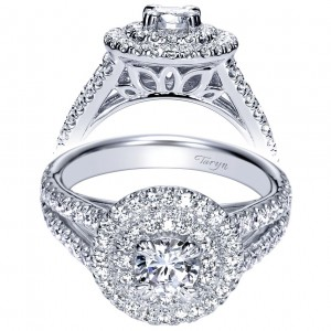 Taryn 14k White Gold Round Double Halo Engagement Ring TE98504W44JJ