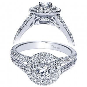 Taryn 14k White Gold Round Double Halo Engagement Ring TE98647W44JJ