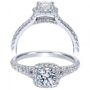 Taryn 14k White Gold Round Halo Engagement Ring TE11897R0W44JJ