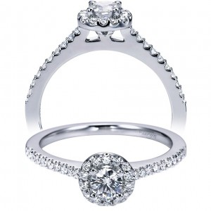 Taryn 14k White Gold Round Halo Engagement Ring TE6555W44JJ