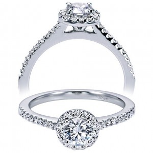 Taryn 14k White Gold Round Halo Engagement Ring TE6556W44JJ