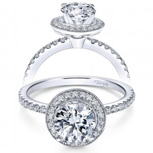 Taryn 14k White Gold Round Halo Engagement Ring TE6958W44JJ