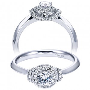 Taryn 14k White Gold Round Halo Engagement Ring TE6960W44JJ