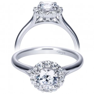 Taryn 14k White Gold Round Halo Engagement Ring TE7809W44JJ