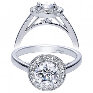 Taryn 14k White Gold Round Halo Engagement Ring TE7813W44JJ