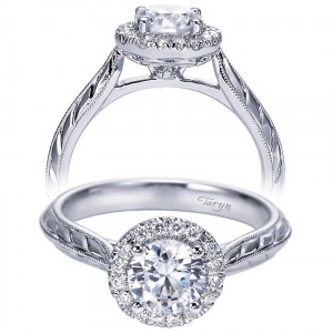 Taryn 14k White Gold Round Halo Engagement Ring TE7829W44JJ
