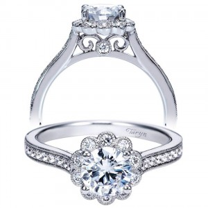 Taryn 14k White Gold Round Halo Engagement Ring TE8066W44JJ