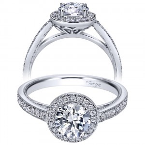 Taryn 14k White Gold Round Halo Engagement Ring TE8068W44JJ