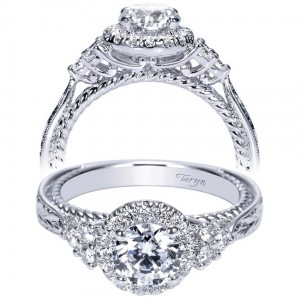 Taryn 14k White Gold Round Halo Engagement Ring TE8792W44JJ
