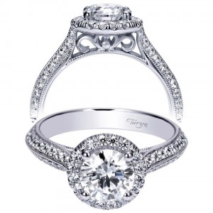 Taryn 14k White Gold Round Halo Engagement Ring TE8888W44JJ