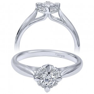 Taryn 14k White Gold Round Halo Engagement Ring TE910769W44JJ