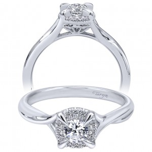 Taryn 14k White Gold Round Halo Engagement Ring TE910770W44JJ