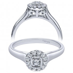 Taryn 14k White Gold Round Halo Engagement Ring TE910772W44JJ