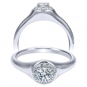Taryn 14k White Gold Round Halo Engagement Ring TE911901R1W44JJ