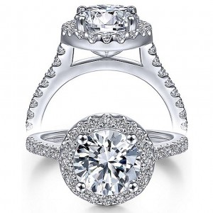 Taryn 14k White Gold Round Halo Engagement Ring TE9349W44JJ