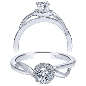 Taryn 14k White Gold Round Halo Engagement Ring TE97719W44JJ