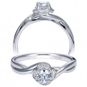 Taryn 14k White Gold Round Halo Engagement Ring TE97773W44JJ