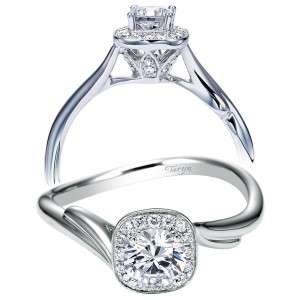 Taryn 14k White Gold Round Halo Engagement Ring TE97774W44JJ