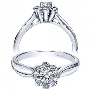 Taryn 14k White Gold Round Halo Engagement Ring TE98421W44JJ