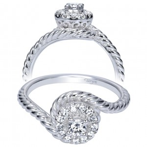 Taryn 14k White Gold Round Halo Engagement Ring TE98482W44JJ