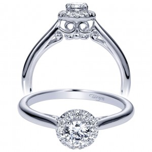 Taryn 14k White Gold Round Halo Engagement Ring TE98561W44JJ