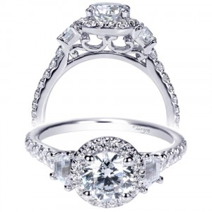 Taryn 14k White Gold Round Halo Engagement Ring TE98622W44JJ