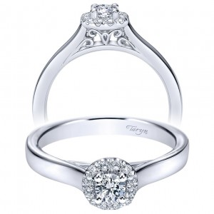 Taryn 14k White Gold Round Halo Engagement Ring TE98642W44JJ
