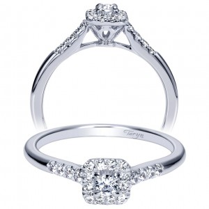 Taryn 14k White Gold Round Halo Engagement Ring TE98724W44JJ