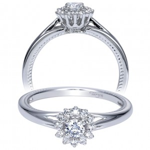 Taryn 14k White Gold Round Halo Engagement Ring TE98729W44JJ