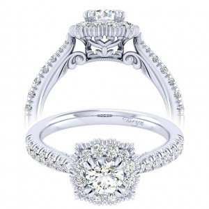 Taryn 14k White Gold Round Perfect Match Engagement Ring TE039A2ACW44JJ