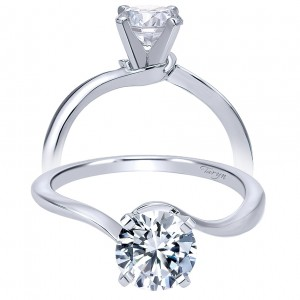 Taryn 14k White Gold Round Solitaire Engagement Ring TE11588R3W4JJJ