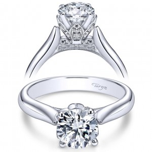 Taryn 14k White Gold Round Solitaire Engagement Ring TE5948W44JJ