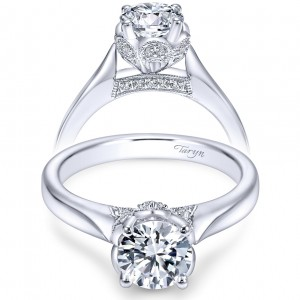 Taryn 14k White Gold Round Solitaire Engagement Ring TE6391W44JJ