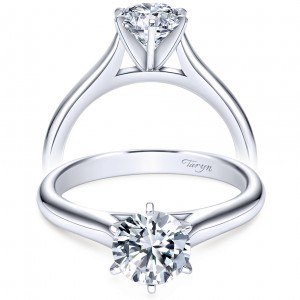 Taryn 14k White Gold Round Solitaire Engagement Ring TE6623W4JJJ