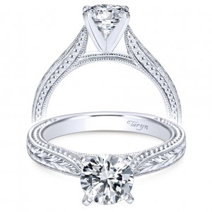 Taryn 14k White Gold Round Solitaire Engagement Ring TE6636W4JJJ