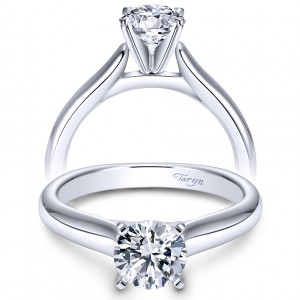 Taryn 14k White Gold Round Solitaire Engagement Ring TE6639W4JJJ