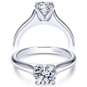 Taryn 14k White Gold Round Solitaire Engagement Ring TE6642W4JJJ