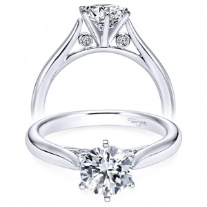 Taryn 14k White Gold Round Solitaire Engagement Ring TE6668W44JJ