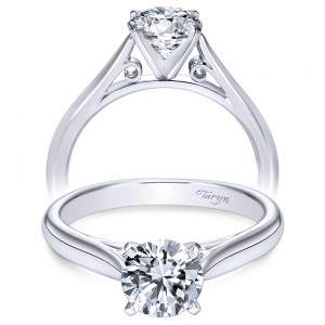 Taryn 14k White Gold Round Solitaire Engagement Ring TE6672W4JJJ