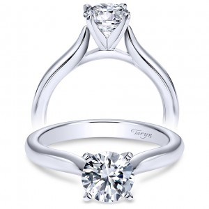 Taryn 14k White Gold Round Solitaire Engagement Ring TE6684W4JJJ