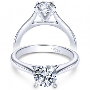 Taryn 14k White Gold Round Solitaire Engagement Ring TE6685W4JJJ
