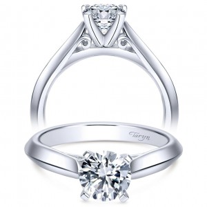 Taryn 14k White Gold Round Solitaire Engagement Ring TE6686W4JJJ