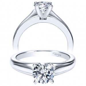 Taryn 14k White Gold Round Solitaire Engagement Ring TE8075W4JJJ