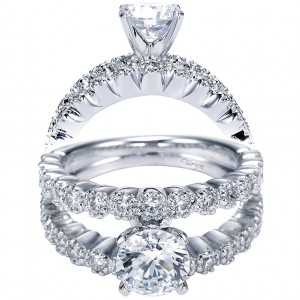 Taryn 14k White Gold Round Split Shank Engagement Ring TE4227W44JJ
